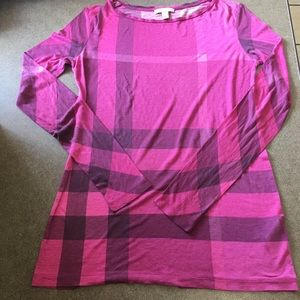 Burberry Brit pink long sleeve top